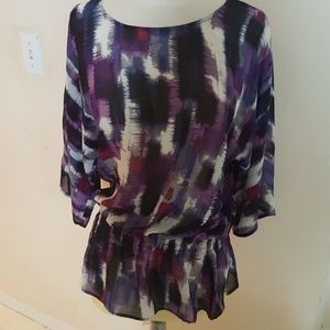 Chicos Abstract Print Top in size 0